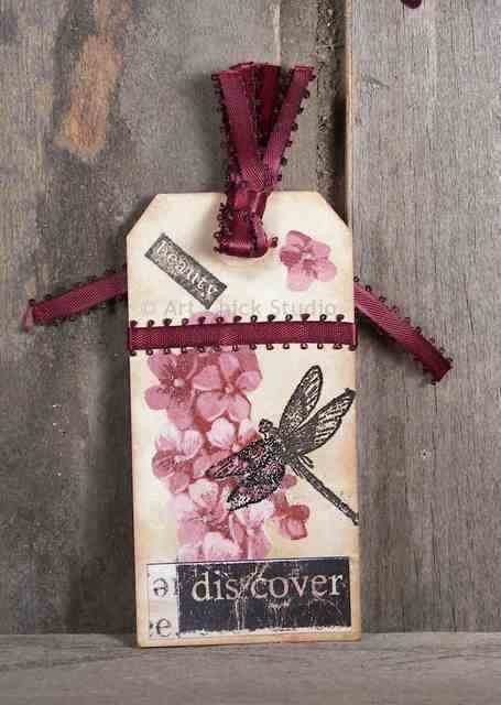 Beauty Altered Art Hang Tag
