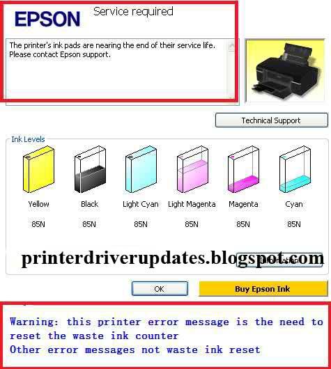 Epson L130 Resetter Adjustment Program Free Download - Printer