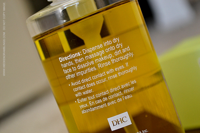 DHC Deep Cleansing Oil Facial Cleanser with olive oil - Review