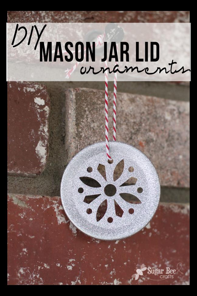 Diy Mason Jar Lid Ornament Sugar Bee Crafts