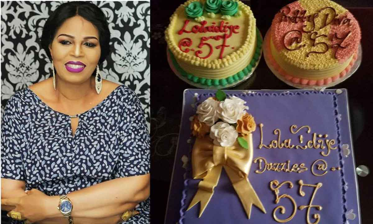 Nigerian film actress and aunt to ace filmmaker, Kunle Afolayan, Toyin Afolayan popularly known as Lola Idije, turned 57th on September 24th.  She was joined by her family members, friends and colleagues in the movie industry to celebrate her big day. Lola Idije shot into limelight after starring as Madam Adisa in a 1995 film titled Deadly Affair