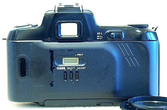 Nikon F-601, Back