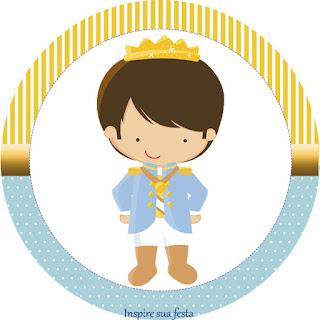 Toppers o Etiquetas de Príncipe Azul para imprimir gratis.