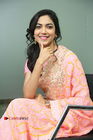 Actress Ritu Varma Pos in Beautiful Pink Anarkali Dress at at Keshava Movie Interview .COM 0201.JPG