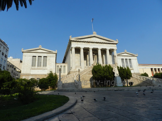 The National Library and surrounding buildings.