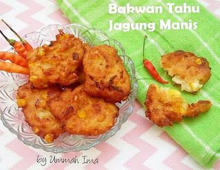 Resep Bakwan Tahu Jagung By @fathimahzein
