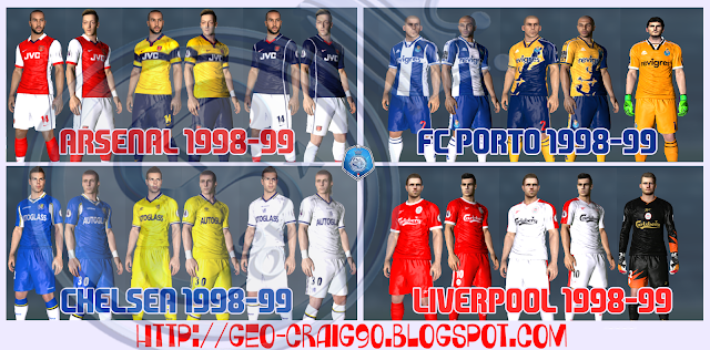 PES 2017 Kitpack Classic Club 90's HD by Geo_Craig90