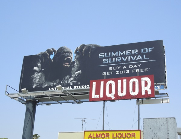 King Kong Summer Survival Universal Studios billboard