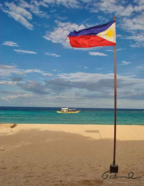 Philippine Flag in Apo Reef