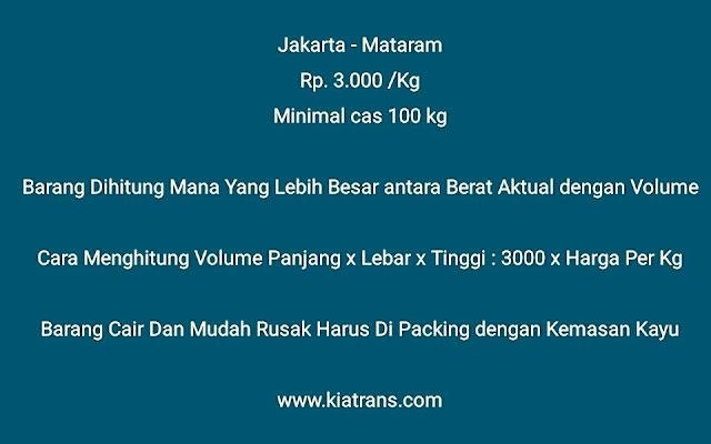 jasa ekspedisi pengiriman barang cargo jakarta lombok