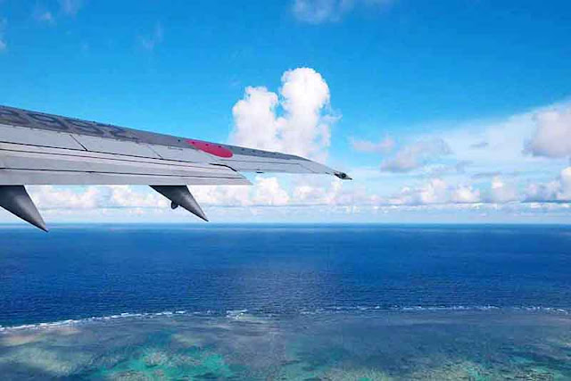 Japan Airlines flight leaving Ishigaki-jima