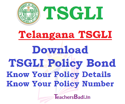 TSGLI Policy Bond,Policy Details,Policy Number