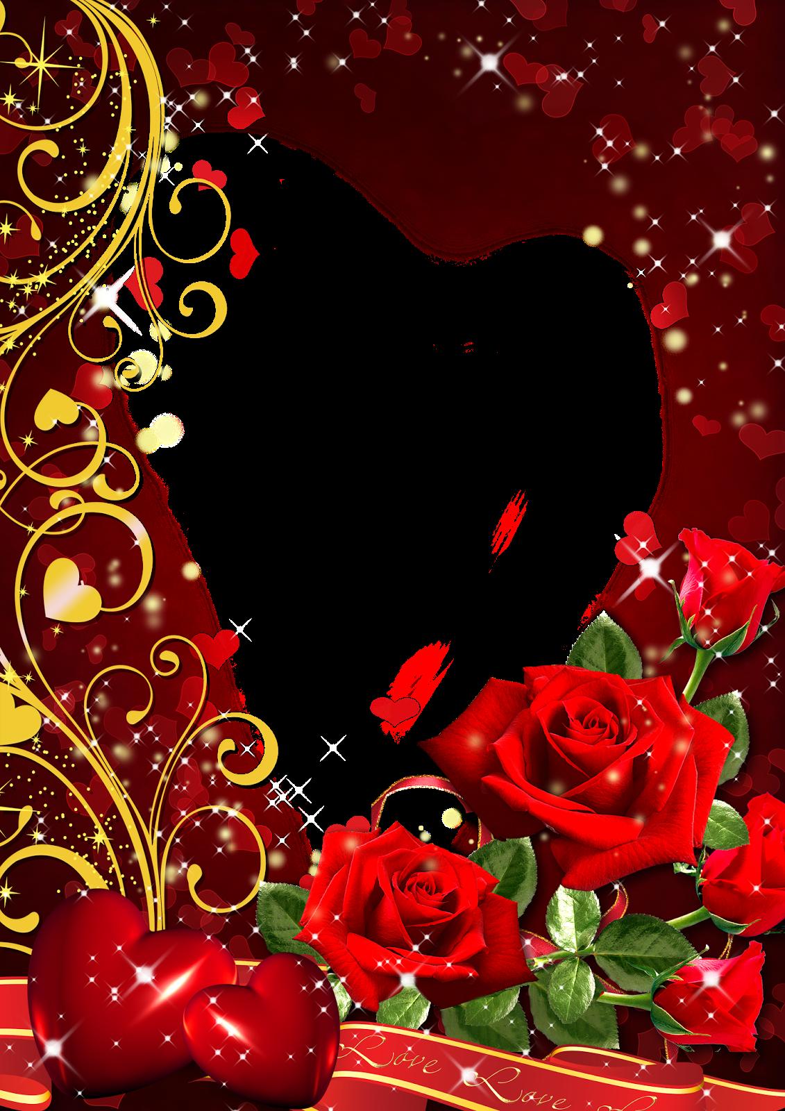 Днем, шаблон открытки для фото рубиновая свадьба