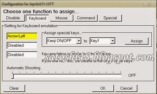 pengaturan fungsi keyboard untuk joystick