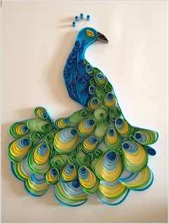 peacock Paper Quilling Patteren and Designs