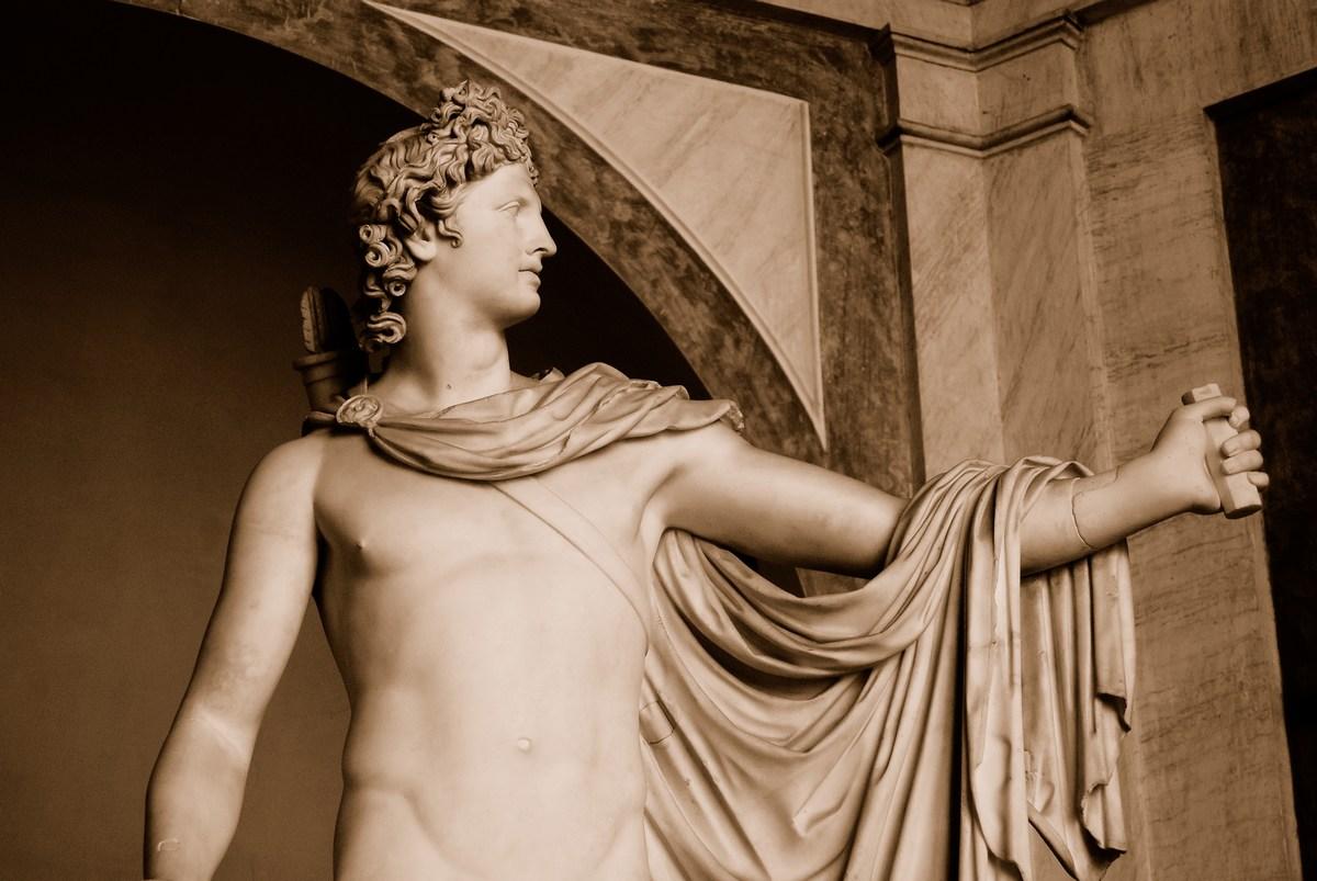 l'Apollon du Belvédère est une des pièces maîtresses du musée Pio-Clementino