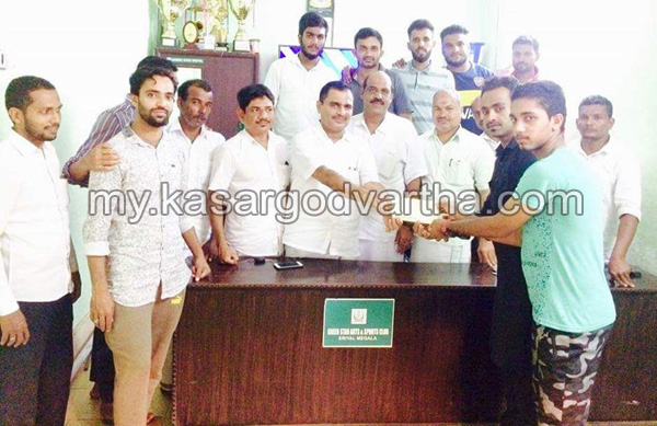 News, Kerala, KMCC, Green star club, Fund, Inauguration, Cricket tournament, GCC, Green star club fund handed over