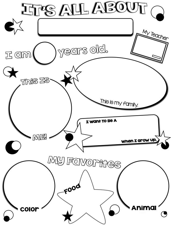 First weeks exhausted and a freebie fun and fearless for About me template for students