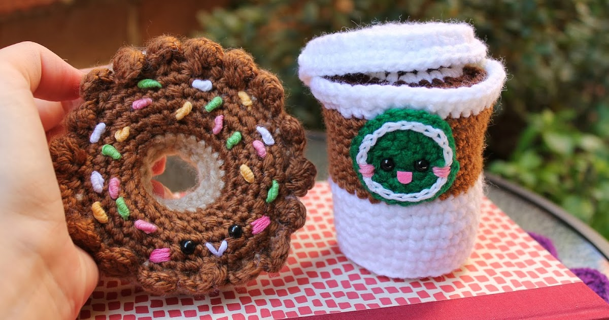 Free Online Crochet Patterns For Amigurumi : Amigurumi Food: New update Donut Amigurumi!!
