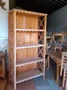 desain lemari rak buku kayu jati