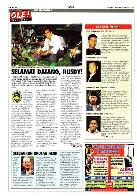 RUSDY BAHALWAN PELATIH TIMNAS INDONESIA