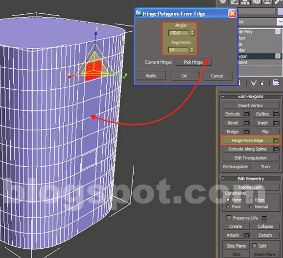 edit polygon 3ds max object