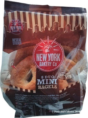 Mini Bagels New York Bakery Wholemeal and wheat