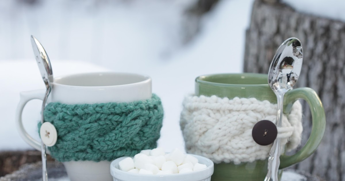 Loom Knit Cable Mug Cozy Loom Knitting By This Moment Is Good