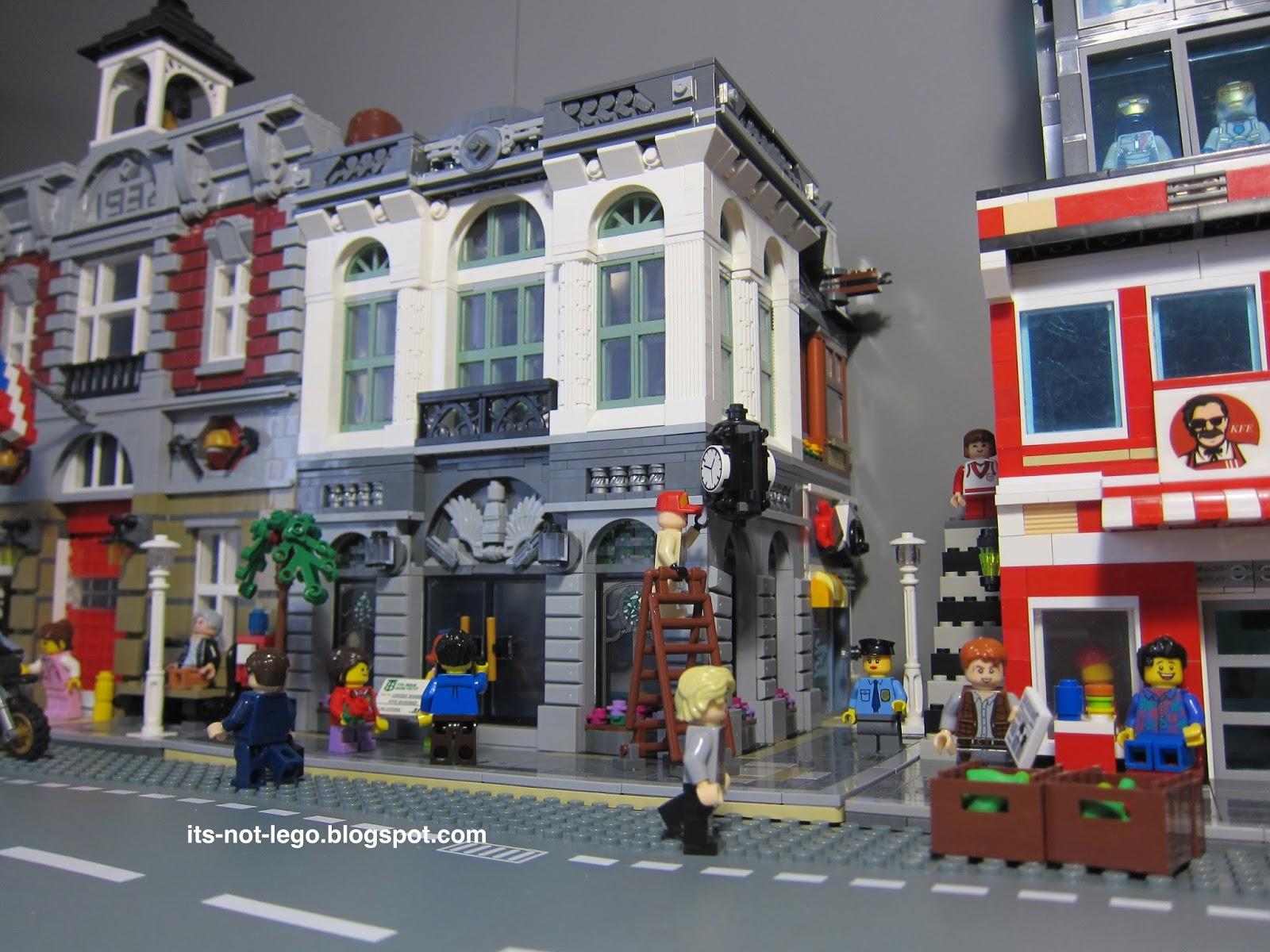 Lepin 15001 Fake Lego Brick Bank Modular Building Set Review