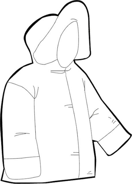 coloriage manteau d'hiver