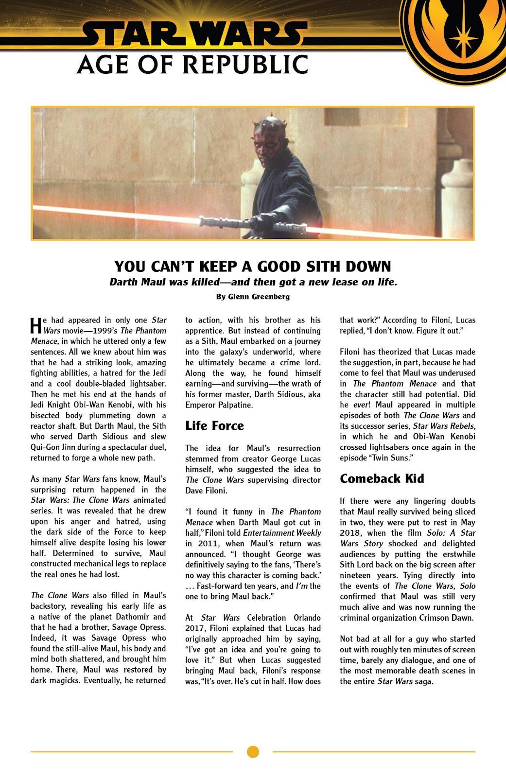 Read online Star Wars: Age of Republic - Darth Maul comic -  Issue # Full - 23