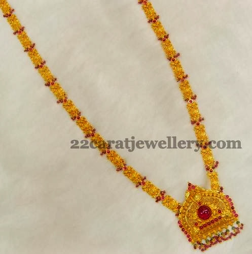 Gold Long Chain By Kothari Jewellery Designs