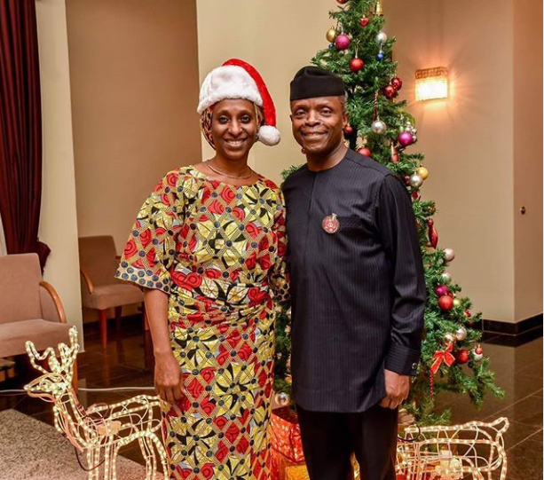 VP Yemi Osinbajo And His Wife In Lovely Christmas Photoshoot