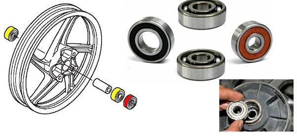 Mengganti Laher Roda Depan Honda Supra X 125 R - Blog Mas Hendra