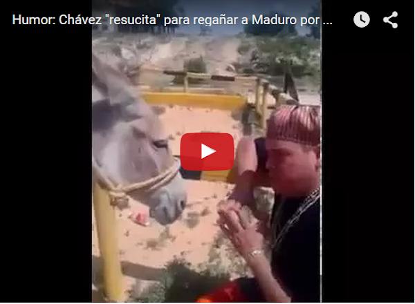 Chavez resucitó y vino a conversar con maduro