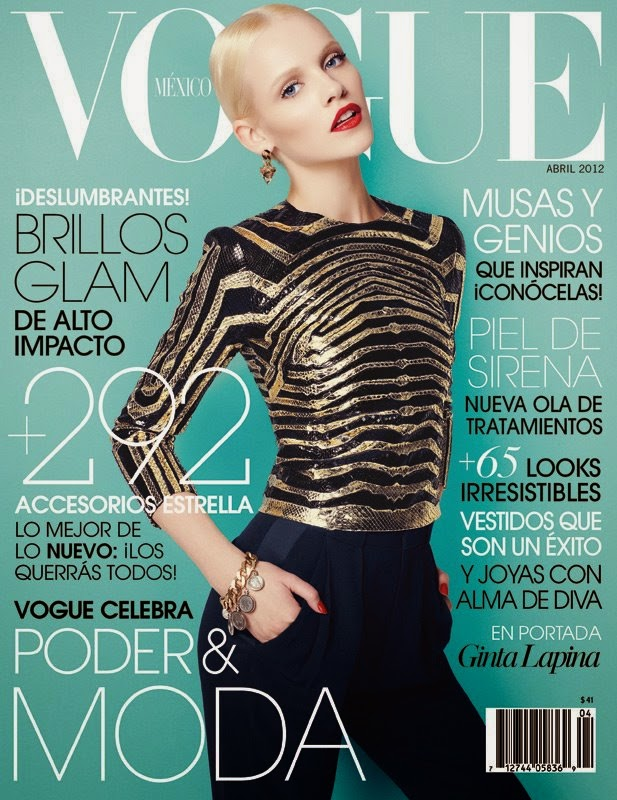 Vogue México April 2012 Ginta Lapiņa by Nagi Sakai