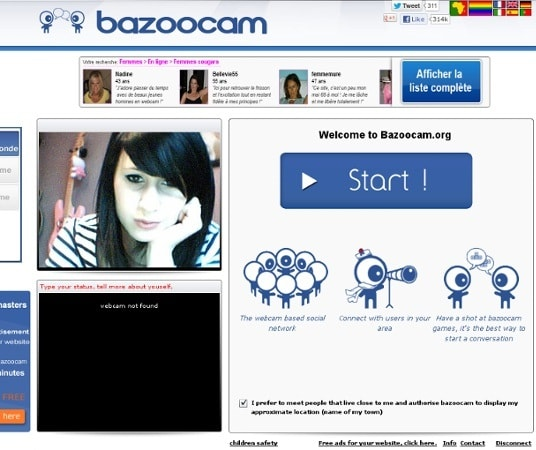 bazoocam free website for chatting with random strangers online when bored
