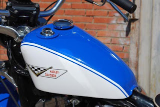 sportster 883 evolution xlch replica blue and white