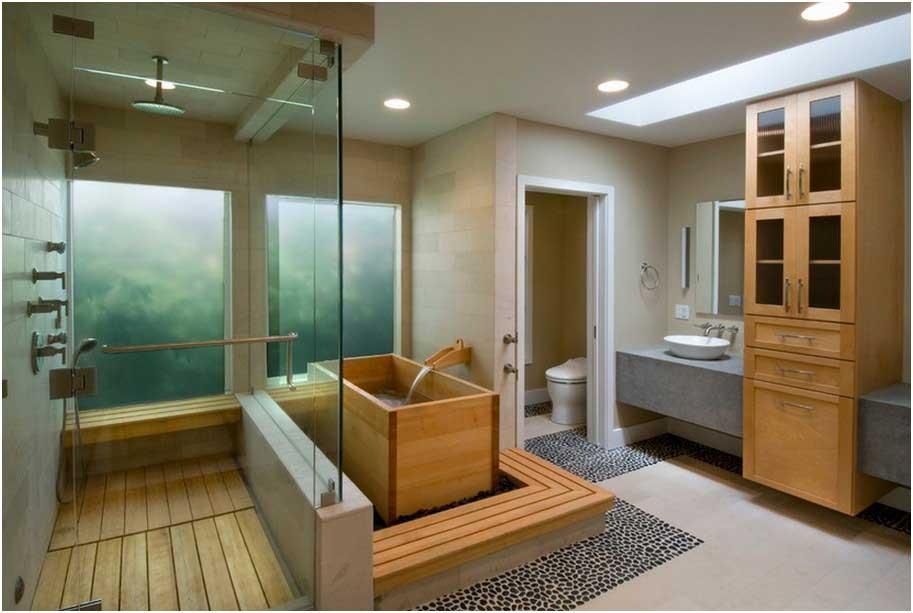 Bild Japanisches Badezimmer Bauen Design Ideen Form Rechteckige