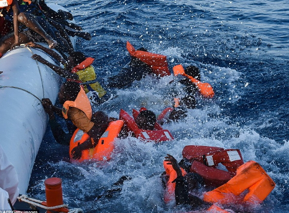 240 african migrants drown sea