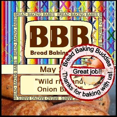 the roundup! wild rice and onion bread–> bread baking babes may 2014