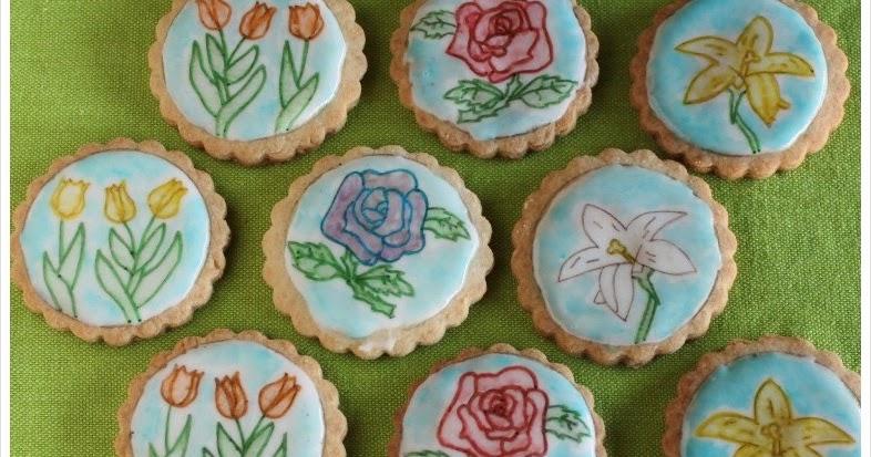 IdeandoArt: Pintando Galletas Con Flores