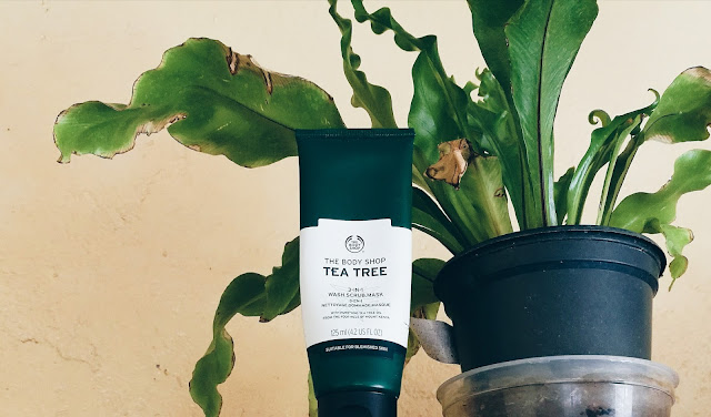the body shop tea tree scrub review, south african beauty blogger review