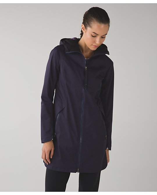 lululemon black-grape-definitely-raining-jacket