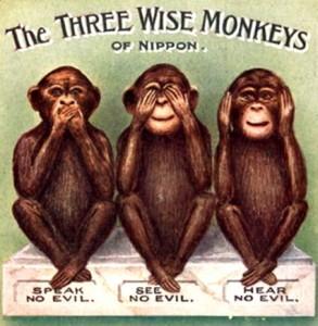bbb les trois singes sages. Black Bedroom Furniture Sets. Home Design Ideas