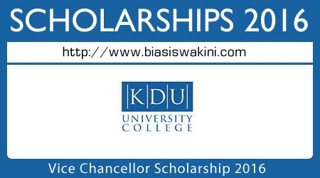 Vice Chancellor Scholarship 2016