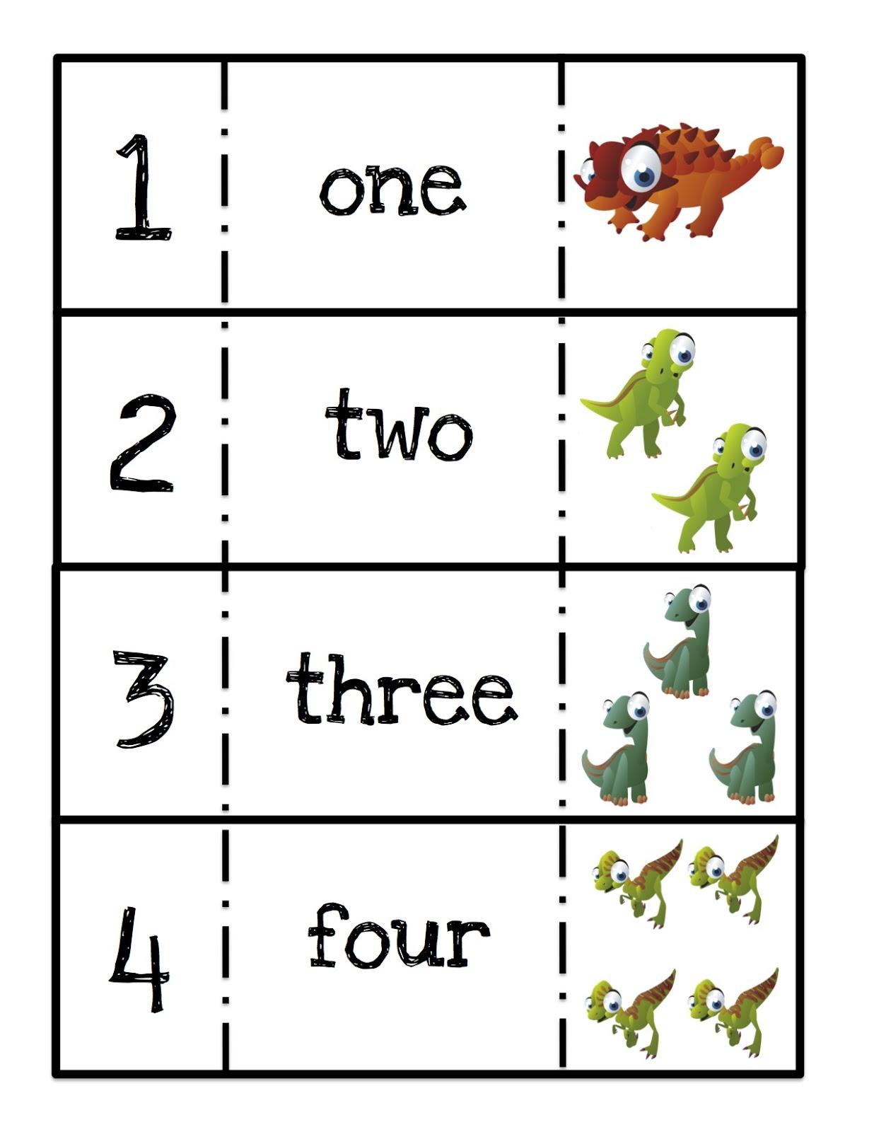 Ten Terrible Dinosaurs Printable Preschool Printables
