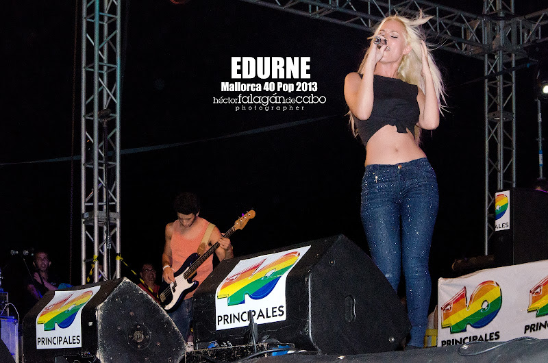 Edurne en el Mallorca 40 Pop 2013. Héctor Falagán De Cabo | hfilms & photography.