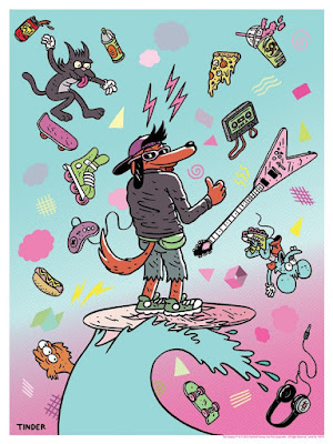 "The Simpsons ""Poochie"" Screen Print by Jeremy Tinder x Dark Ink Art x Acme Archives"
