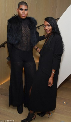 EJ Johnson slays in risque black outfit